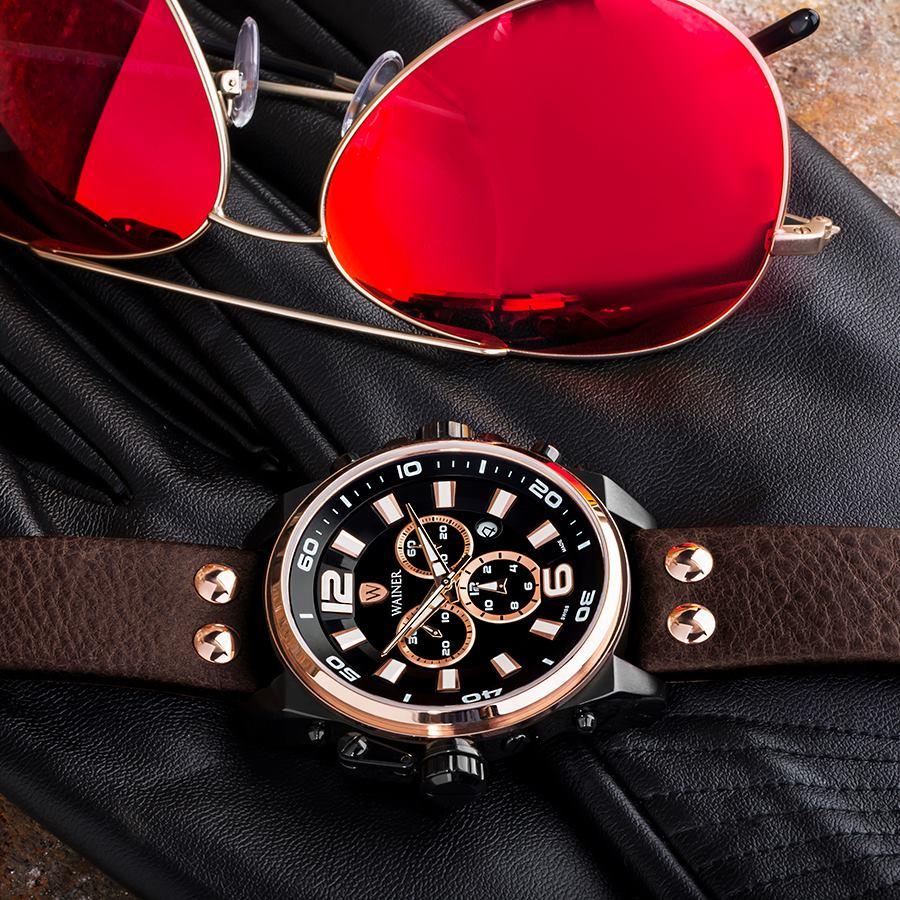 Мъжки часовник с кожена каишка – стилно и практично решение!